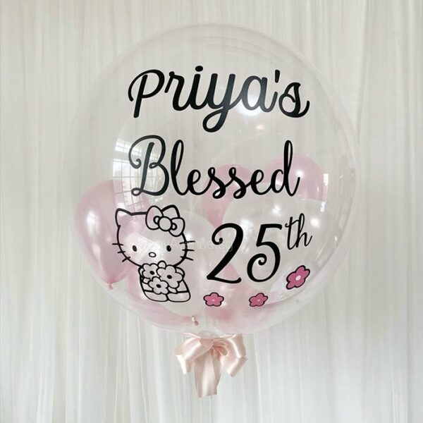 "24"" CustomBubble (Premium) - Customised Bubble Balloons Stuffed with Mini Balloons"